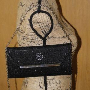 Handbags - Black Glittery Clutch Bag